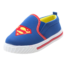 Autumn child 2015 low canvas shoes super man female child boys Sports shoes