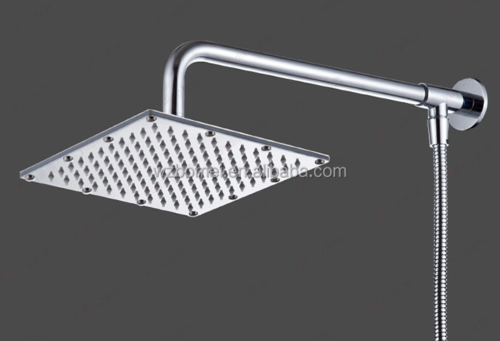 Ultra thin 304 rainfall magnetic stainless steel water saving square ceiling rain shower head