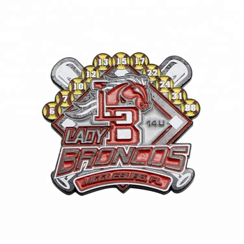 New custom baseball team trading pins zinc alloy pins for lady