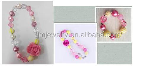 diy bead necklace for kids flower necklace for best friends children's gift