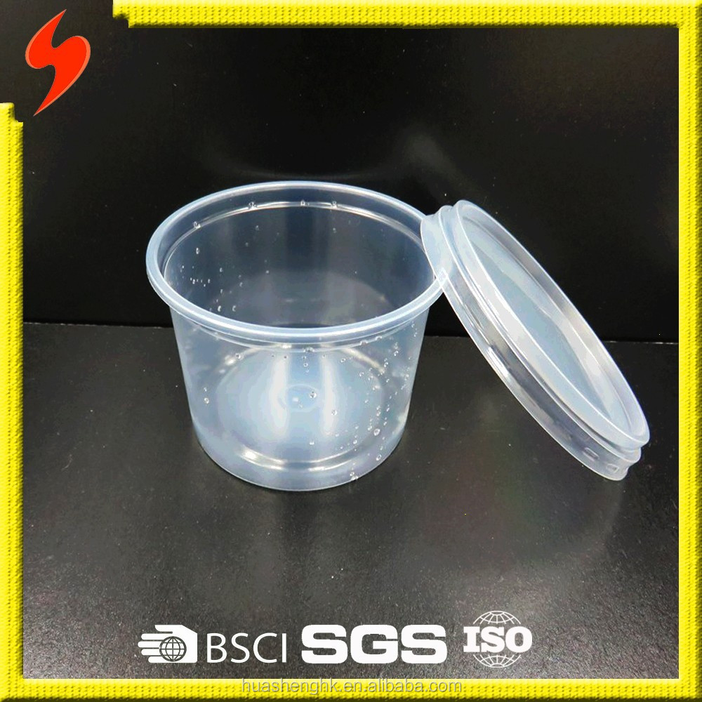 OEM PP Clear Disposable Takeaway Plastic 18oz/590ml Lunch Bowl with Lid
