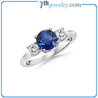 2014 fashion engagement ring wholesale popular at high quality with AAA CZ stones rings