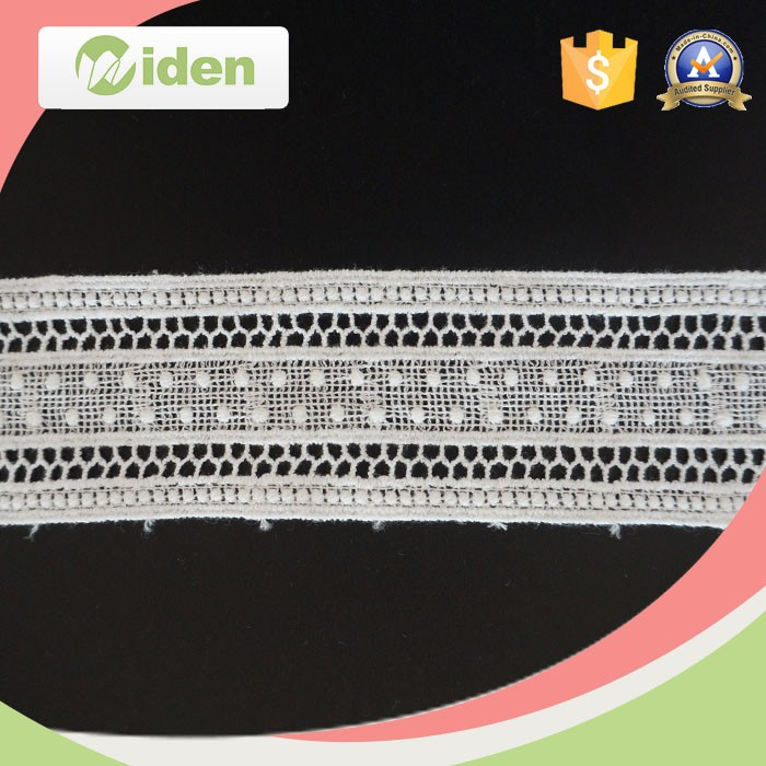Fancy Cheap Wholesale White Cotton Cord Embroidered Chemical Lace Trim