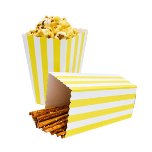 Custom logo printed package paper popcorn box