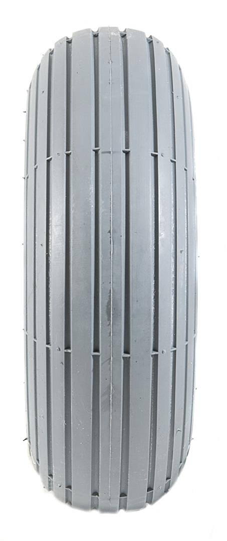 2 Grey Solid Rib Tread Mobility Scooter Tyres 260 x 85 (3.00-4)