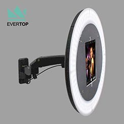 PBF01 9.7, 10.5, 12.9 inch for iPad Air, Pro Photo Booth System Social Media, Portable Floor Photo Booth with LED Ring Light