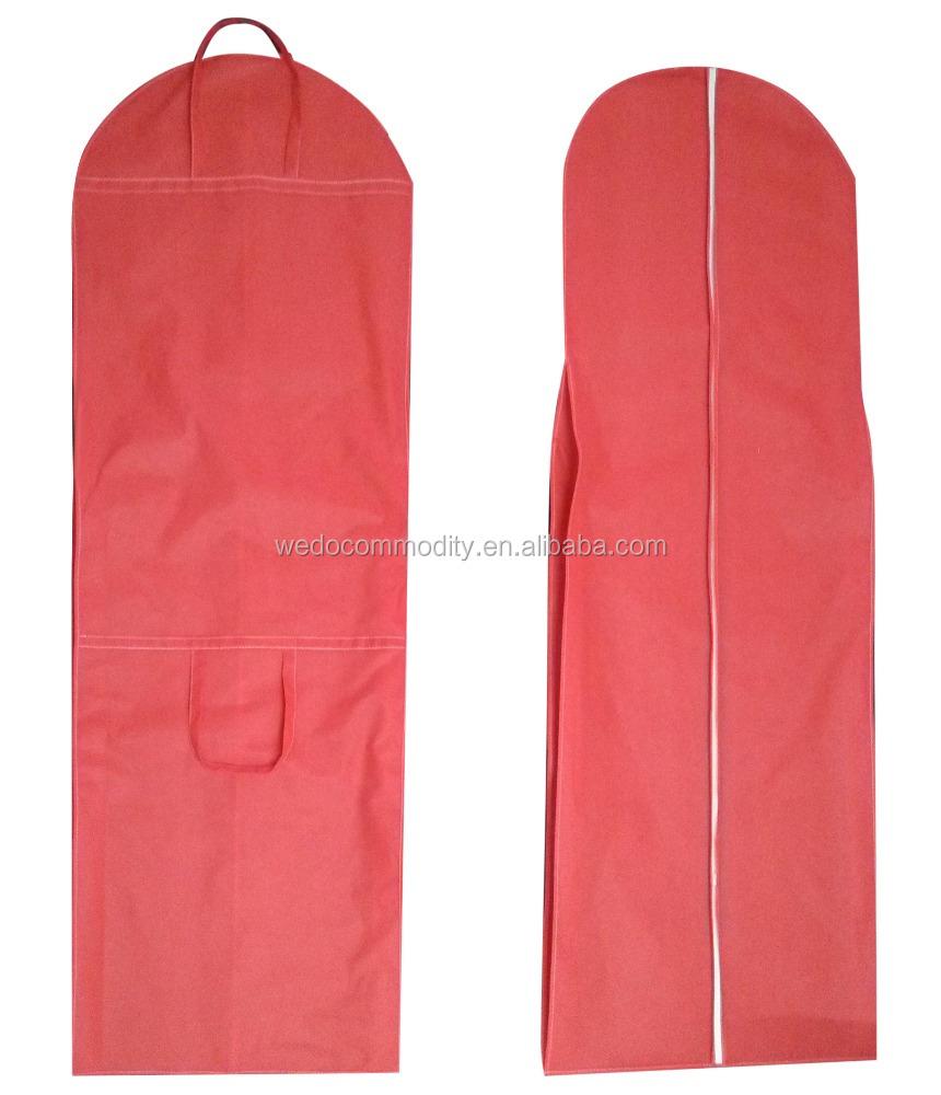 Folding Garment Bag Wedding Dress Cover Clothes Travel Large Zipper