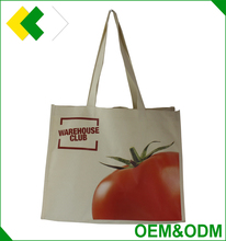 Top quality 600d polyester tote bag with long handles custom logo printing promotional shopping bag