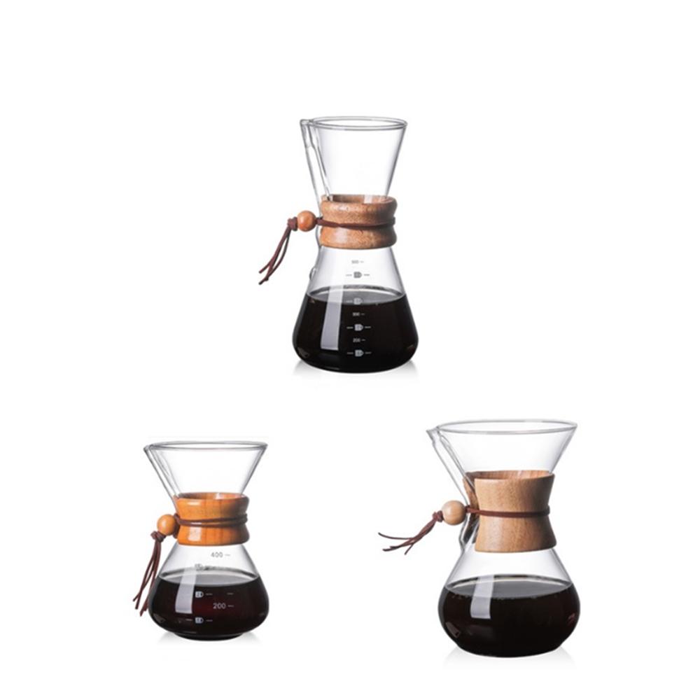 Borosilicate glass pendant coffee pot 600ml