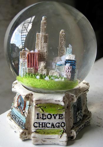 Resin Water Globe Chicago Souvenir Buy Water Globe