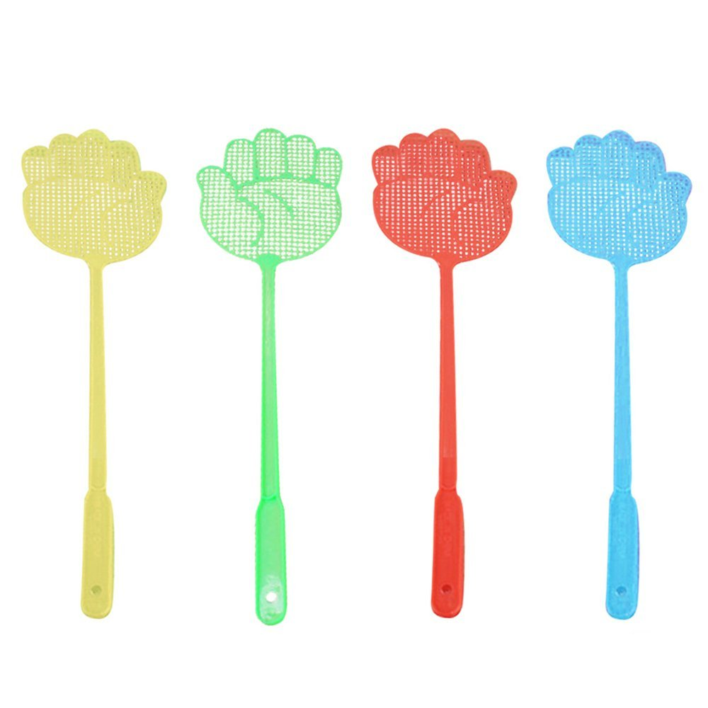 Kangkang@ 5 PCS Plastic Pest Control Mosquito Bug Hand Pattern Fly Swatter Flyswatter Killer Tools