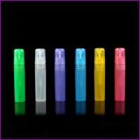 MUB 5ml Mini Travel Refillable Perfume Atomizer Empty Frosted Pen Shaped Plastic Perfume Spray Bottles Wholesale