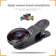 Detachable universal clip phone camera fisheye lens 210 degree super fisheye 10mm no darkness for cellphone