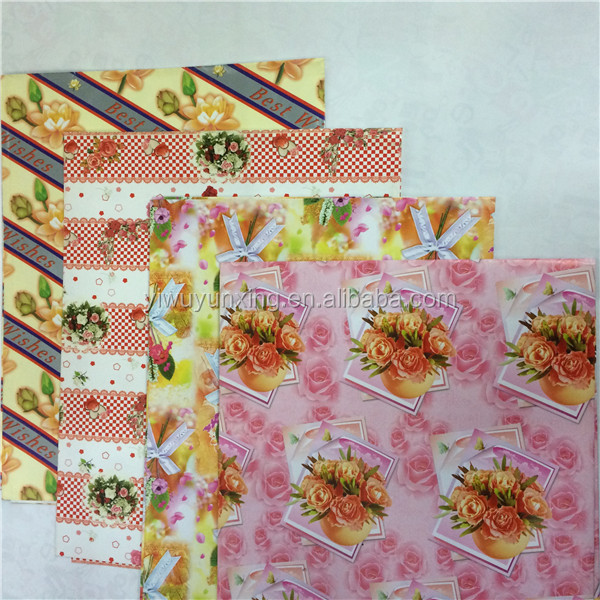 Custom design high quality printed money wrapping paper