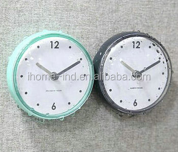 Small Decorative Waterproof Suction Clock Bathroom Wall And Mirror Clock