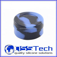 Platinum cured 3ml ball shape silicone seasoning container/ silicone container/ butane hash oil silicone container