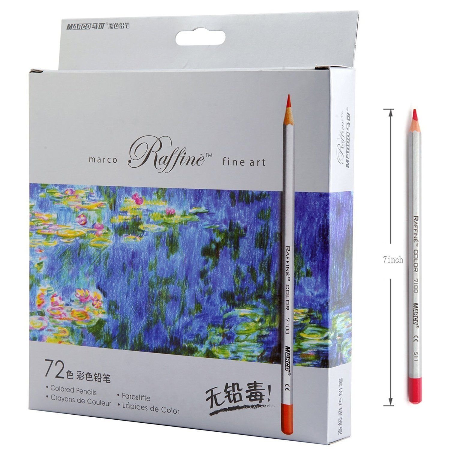 72-color Raffine Marco Fine Art Colored Pencils/ Drawing Pencils for Sketch/ Secret Garden Coloring Book (Not Included) 100% New