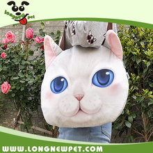 Cartoon Animal Shape Shoulder Bags 3D Cat Face Bag
