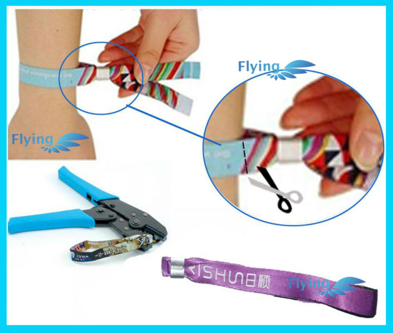 Low Price Wristband Lock, Oval Plastic Closure for Event Wristbands Bracelets