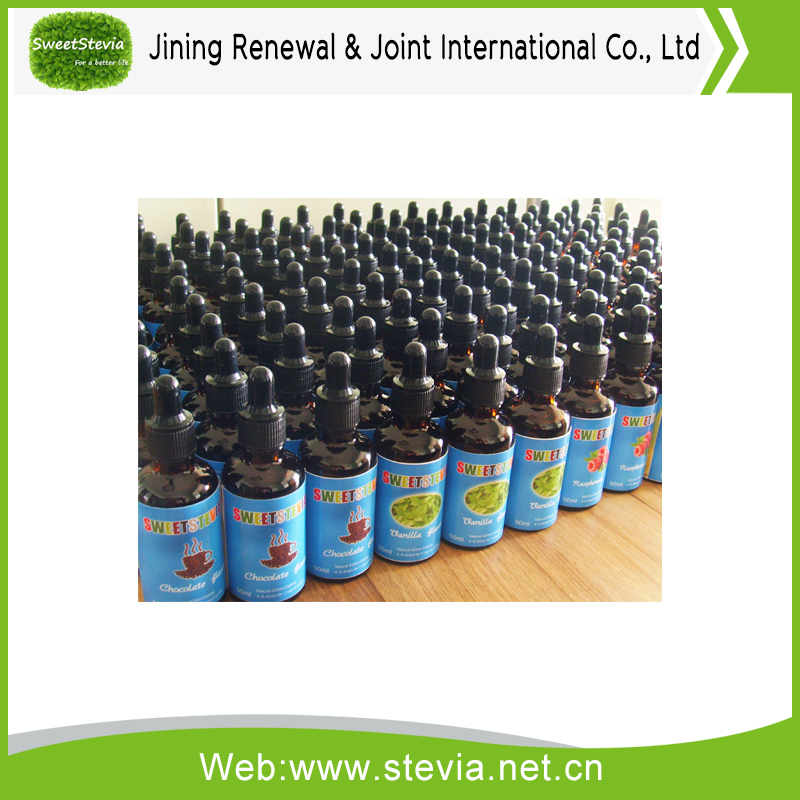 Stevia liquid, strawberry flavor,60ml bottle
