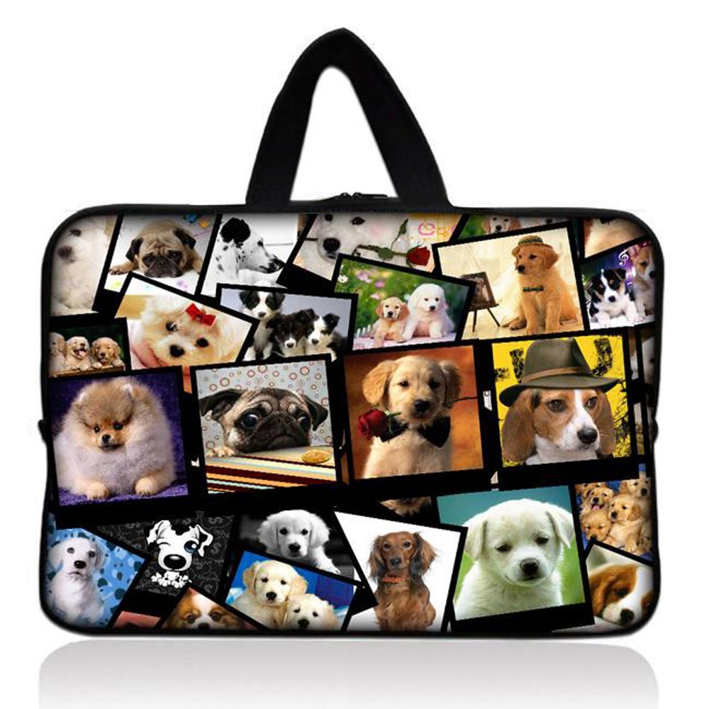 "Many Dogs Universal 7"" 7.7"" 8"" Carrying Bag Case Cover Bag Sleeve + Handle for 7"" Samsung Galaxy Tab 2 Tab 3, Ipad Mini,Amazon 2 3 4 Kindle Fire, Touch, Fire HD,Asus Google Nexus 7,LeapFrog LeapPad 2,Asus Memo Pad ME172V,BlackBerry PlayBook,HP Slate 7,Kurio 7,Barnes & Noble NOOK Color,Pendo Pad 7"""