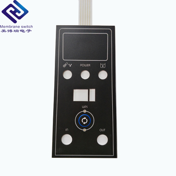 Screen Printing Round Embossed Key polyester Graphic Overlay Membrane Switch Keypad