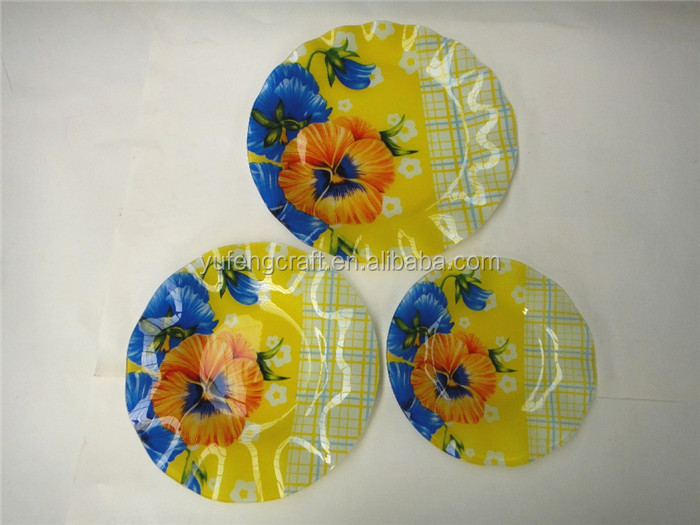 Funky Decorative Glass Wall Plates Festooning - Wall Art Design ...