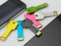 custom free logo USB 2.0 2GB Flash Memory Drive Thumb Stick Pen Key shape USB flash drive