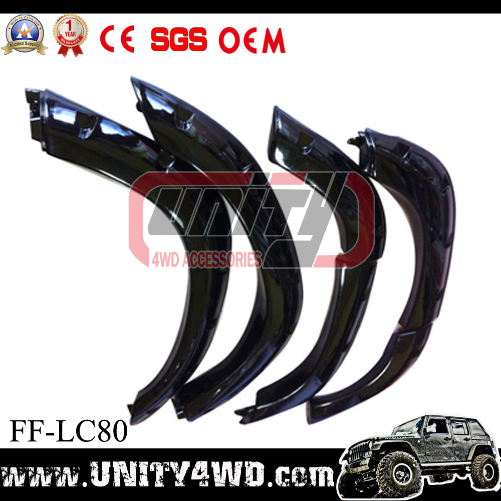 Auto car parts truck parts fender flares for Land Cruiser 80