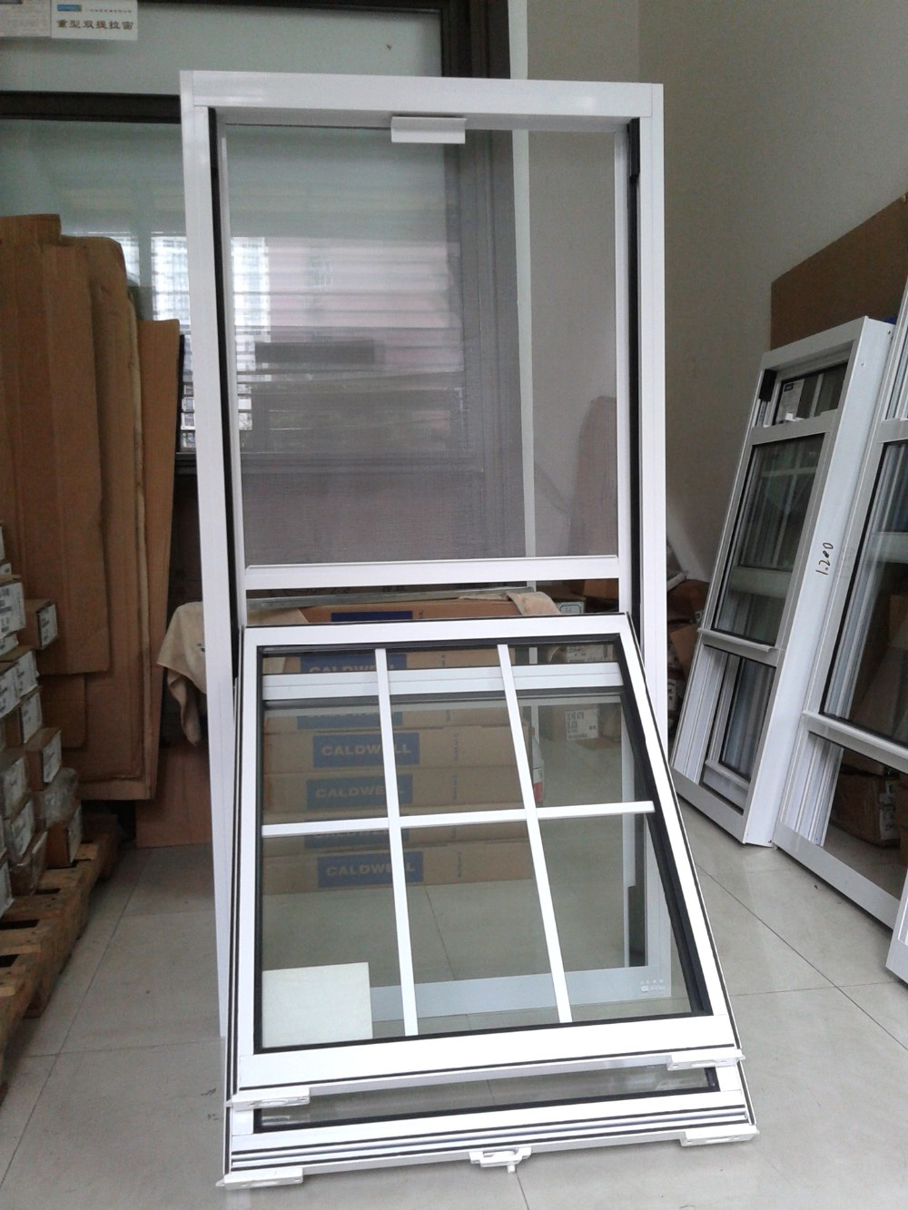 Easy Clean Aluminium Frame Up Down Vertical Sliding Glass Window ...