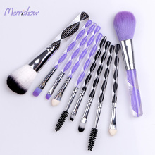 Free Sample 여행 메이 컵 Brush Kit Purple 및 Black 휴대용 크리스탈 Private Label 화장품 Tool Made in China