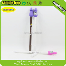 Promotional Fancy Cartoon Smile Shaped 3D PVC Pencil/Ballpoint Pen topper/christmas pencil toppers