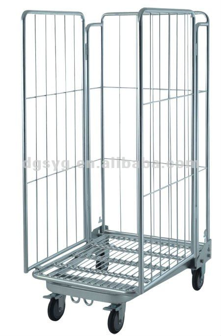 Folding Roll Cage Trolley For Warehouse Or Factory - Buy Cage Trolley,Pack  And Roll Trolley,Industrial Container Cages Trolleys Product on Alibaba com