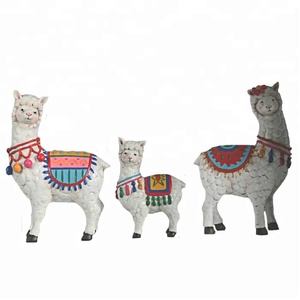 Lovely Small Resin Llama Alpaca Animal Statues
