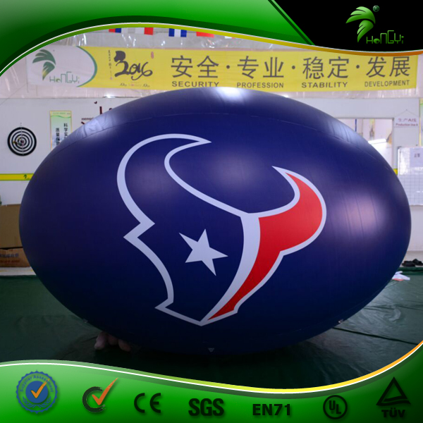Giant Inflatable Parade Rugby Ball Model / Inflatable Floating Football Replica / Rugby Helium Balloon for Advertising