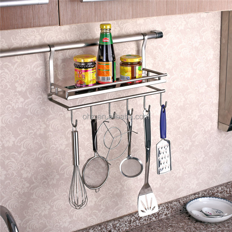 Awesome Wall Mounted Stainless Steel Kitchen Utensil Holder 334