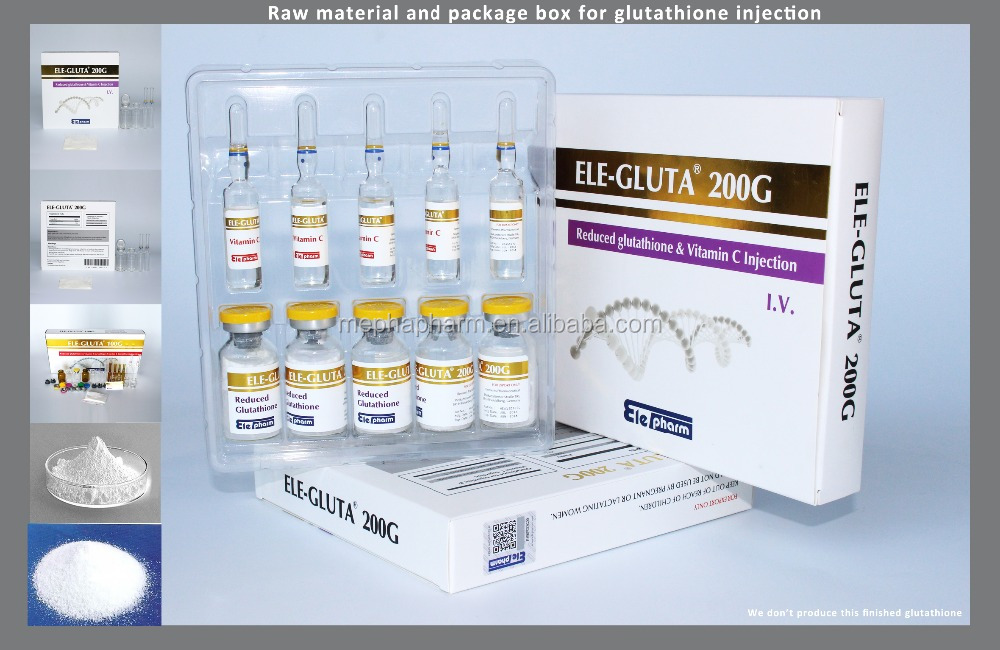 skin whitening raw material glutathione injection and package for body whitening skin care glutathione injection