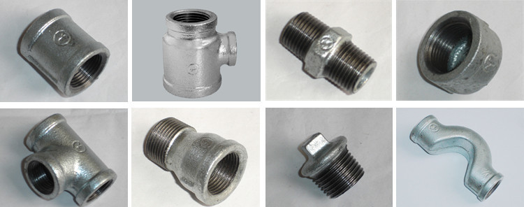 Banded gi cast iron elbow pipe fitting malleable