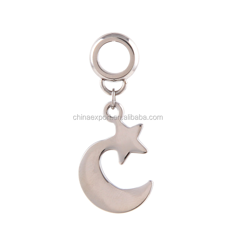 2017 New Trending Charms Moon And Star Bracelet Dangle Charms