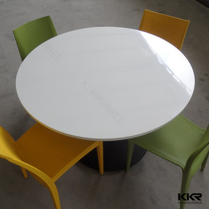 solid surface canteen tables and chairs, chinese restaurant round table furniture