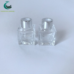 24mm shiny golden and silver diffuser reed aluminum cap for empty glass bottle