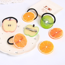 New Summer Style Fruits Slice Multi-Patterns Hair Accessories for Girls Women Elastic Hair Bands Rubber Bands Headwear