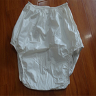 PVC PEVA white plastic adult baby pants waterpoof diaper pants for adults
