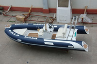 CE Certification High Quality fiberglass hull rib boat RIB480B rigid inflatable boat