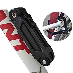 Mandydov Foldable Alloy Steel Bike Bicycle Lock with 3 Keys, Folded Steel Plate with Plastic Coating, Bike Anti-theft Lock