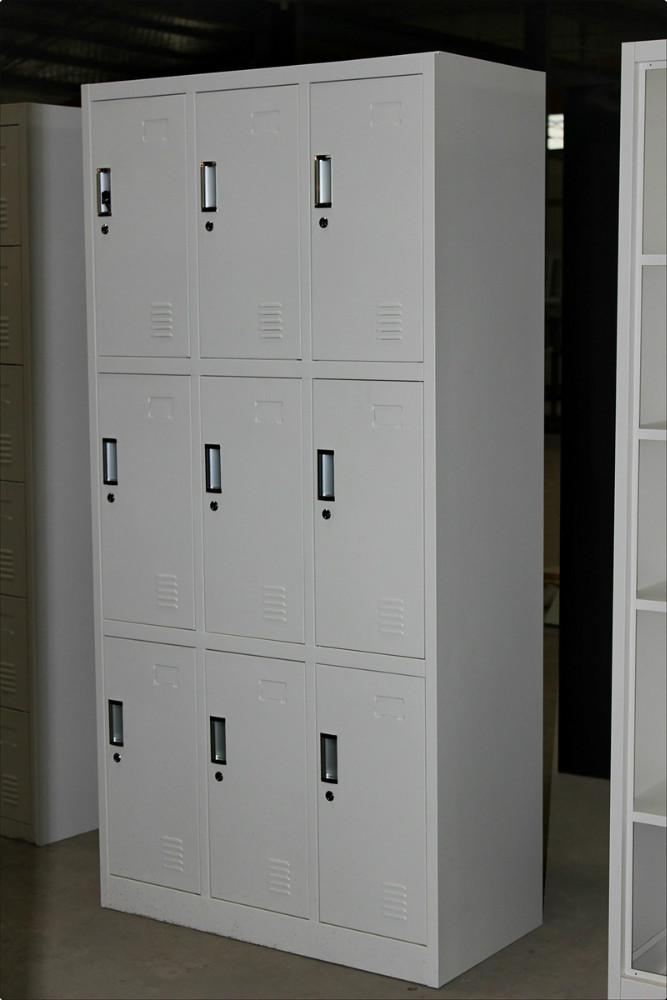 The Best Selling Aluminium Locker With 9 Doors/strong Iron Storage Cabinet/  Convenient Gym
