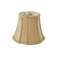 Retro Off-White Bell Cover Fabric Lamp Shade For Chandelier Light
