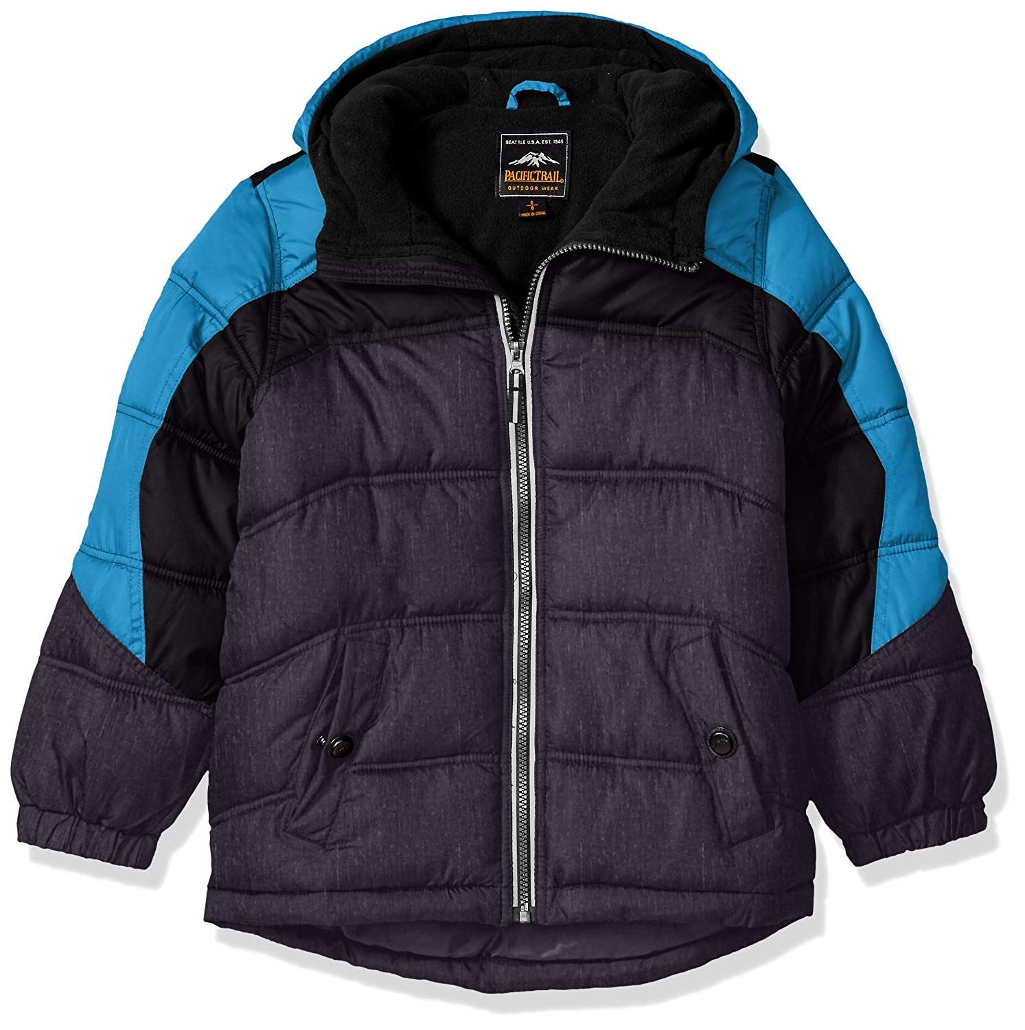 79d04a657 Get Quotations · Pacific Trail Little Boys' Colorblock Puffer Jacket