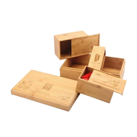 customized logo and size FSC certified bamboo packaging box