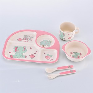 Food Safe Biodegradable Dinner Set Dinnerware Bamboo Kids Dinnerware Set